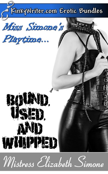 Book Cover for Mistress Simone's Playtime ... BOUND, USED, and WHIPPED (by Mistress Elizabeth Simone)