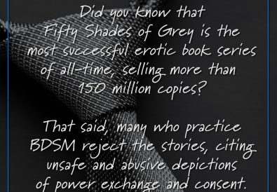 Did you know that Fifty Shades of Grey is the most successful erotic book series of all-time, selling more than 150 million copies?